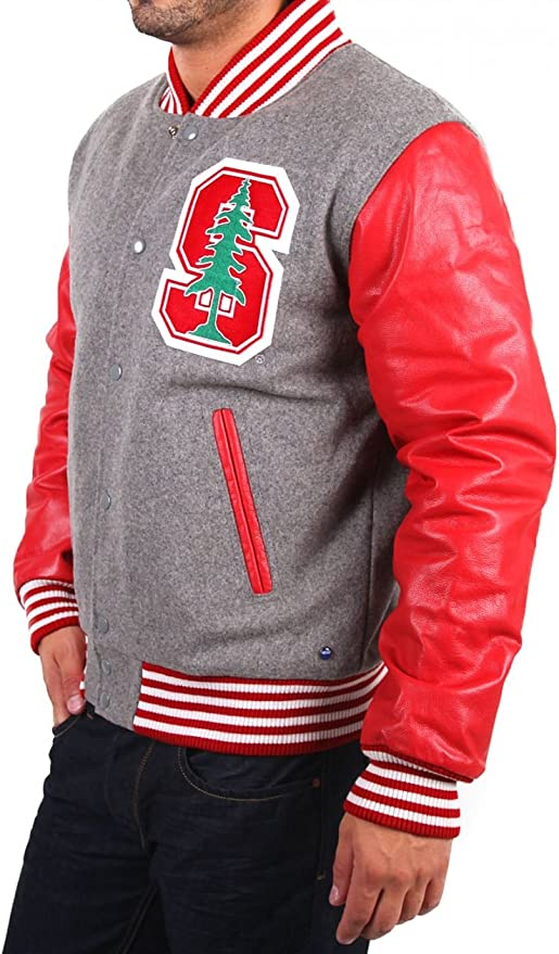 NCAA Herren Stanford College Jacke BASEBALL JKT WINTER grey