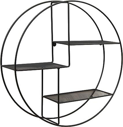 Marca Amazon - Movian Kyyvesi - Estantería redonda para colgar, 60 x 15 cm, negro