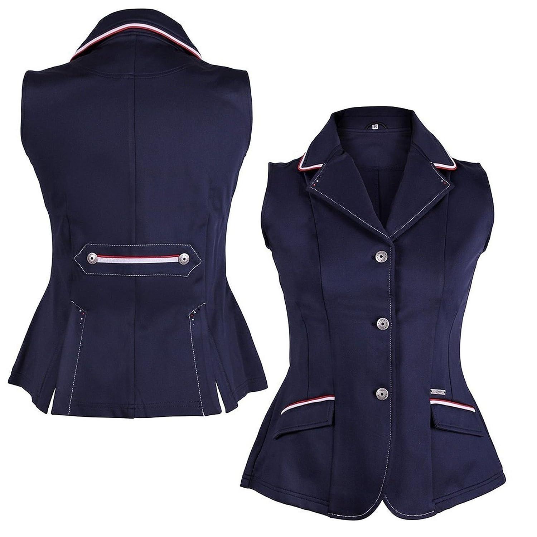 Bleu  qhp Gilet Femme Coco Adult couleur Détails strass Convient Z Tournoi veste Coco Adult