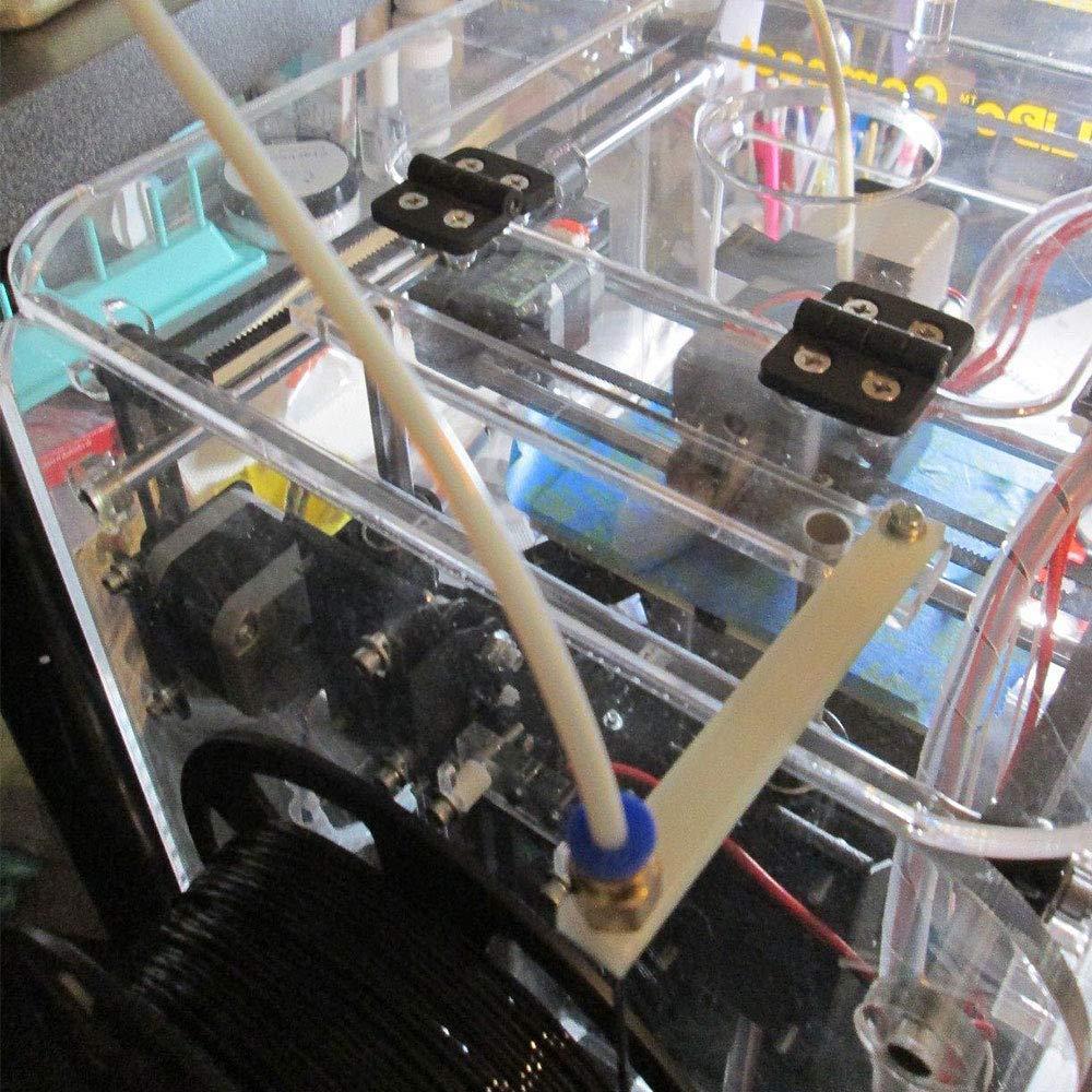 2.0mm ID//4.0mm OD NACTECH 4 Pcs Raccord Pc4-M6 en Cuivre Droite Pneumatique Montage Push to Connect pour T/éflon Tube PTFE Bowden Extrudeuse 1.75 mm Filament Imprimante 3D