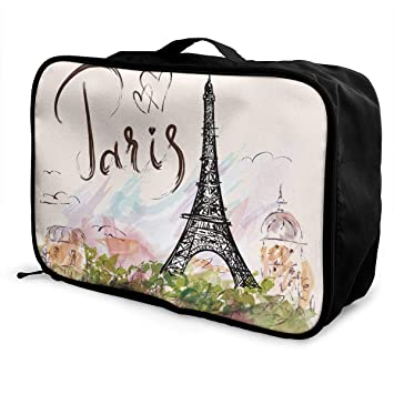 ADGAI Stones Covered Canvas Travel Weekender Bag,Fashion Custom Lightweight Large Capacity Portable Luggage Bag,Suitcase Trolley Bag