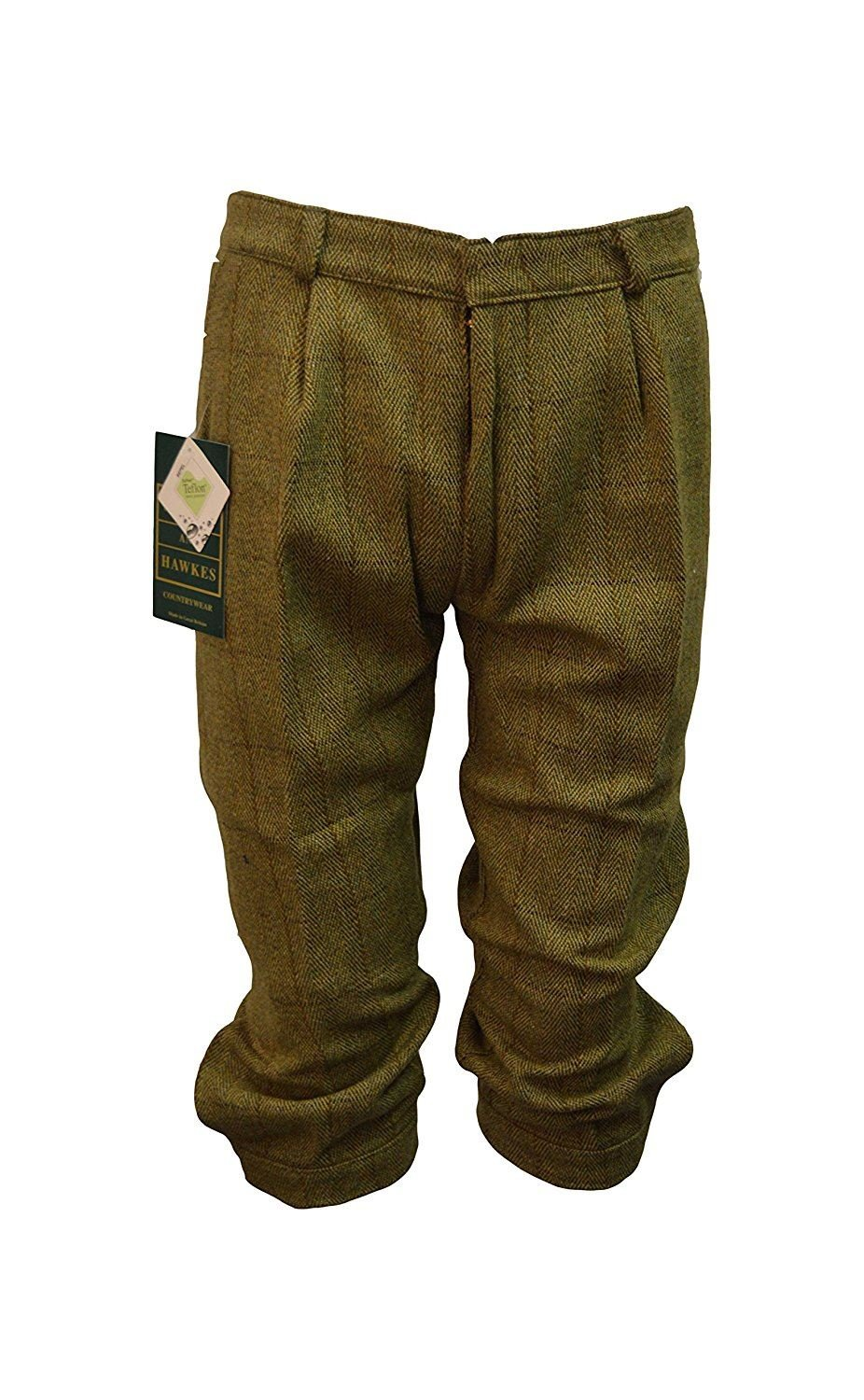 811bffd1f82aa Walker and Hawkes Men s Derby Tweed Shooting Plus Fours Breeks Trousers 36  Light Sage