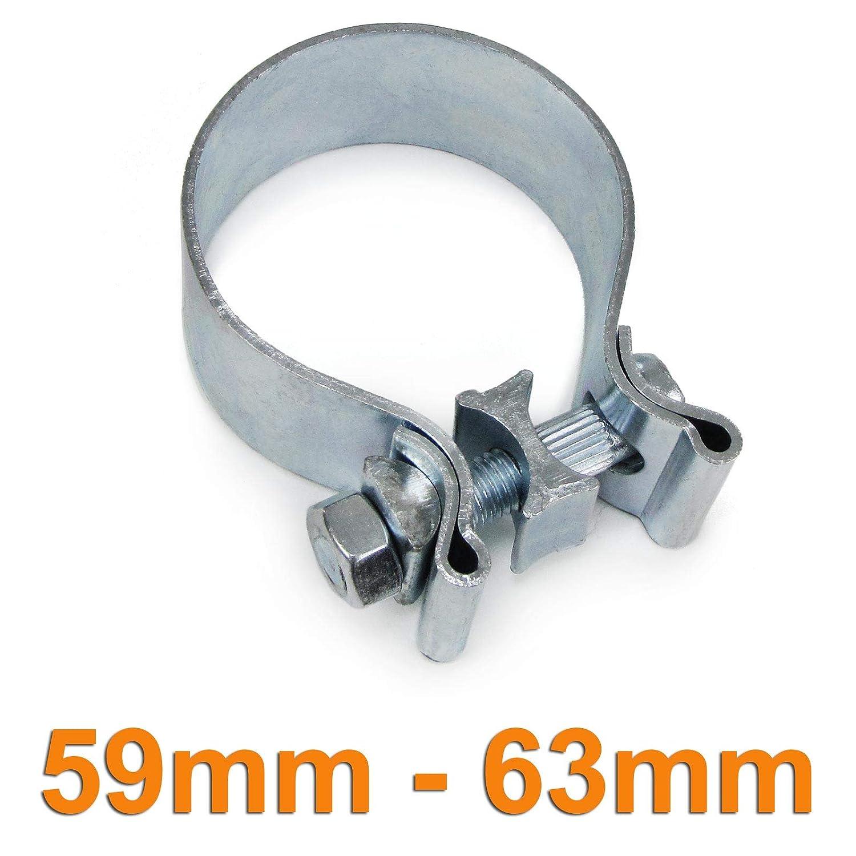 Auspuffschelle 63,5mm 2,5 Schelle Auspuff Rohrschelle 63,5-68mm EDELSTAHL NEU