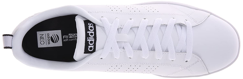 adidas neo vantaggio pulito vs w occasionale / bianco / nero bianco e scarpe da ginnastica.