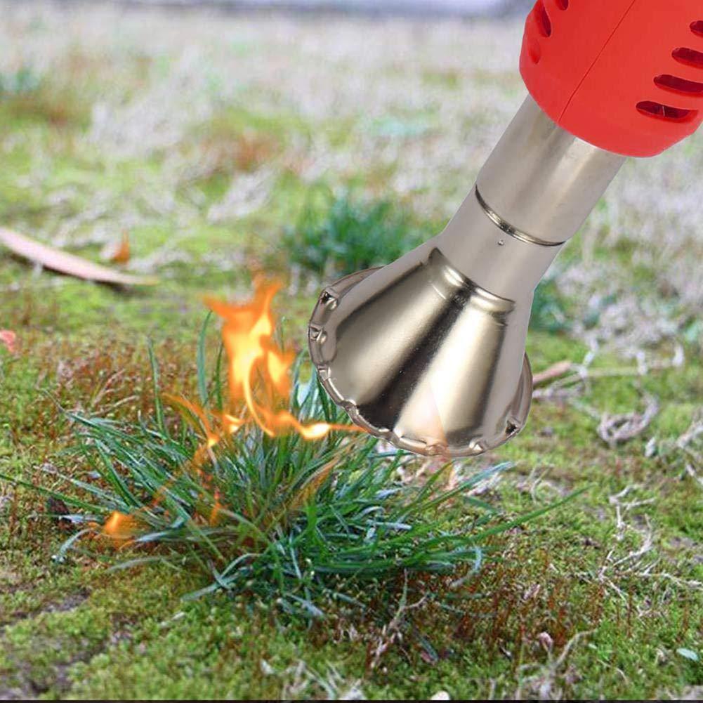Unkrautbrenner Abflammger/ät Unkrautvernichter Aluminium. Abflammger/ät Grillanz/ünder Elektro-Rasenm/äher Weeder Elektrowerkzeug Elektro Unkrautbrenner 2000W Temperatur Wahlweise 60 /° C Oder 650 /°