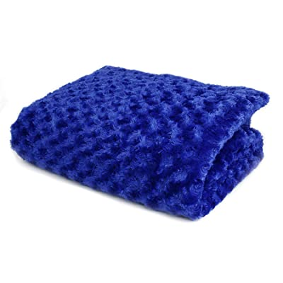 Huggaroo 7 lb Weighted Blanket for Kids – Weighted Lap Pad – Weighted Throw – Weighted Lap Blanket – Perfect for Sleeping and Relaxing – Machine-Washable – Chenille, Soothing Blue: Home & Kitchen