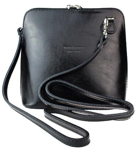4b2d1045669 Ladies Fashion Small Square Vera Pelle Italian Leather Cross Body Shoulder  Bags