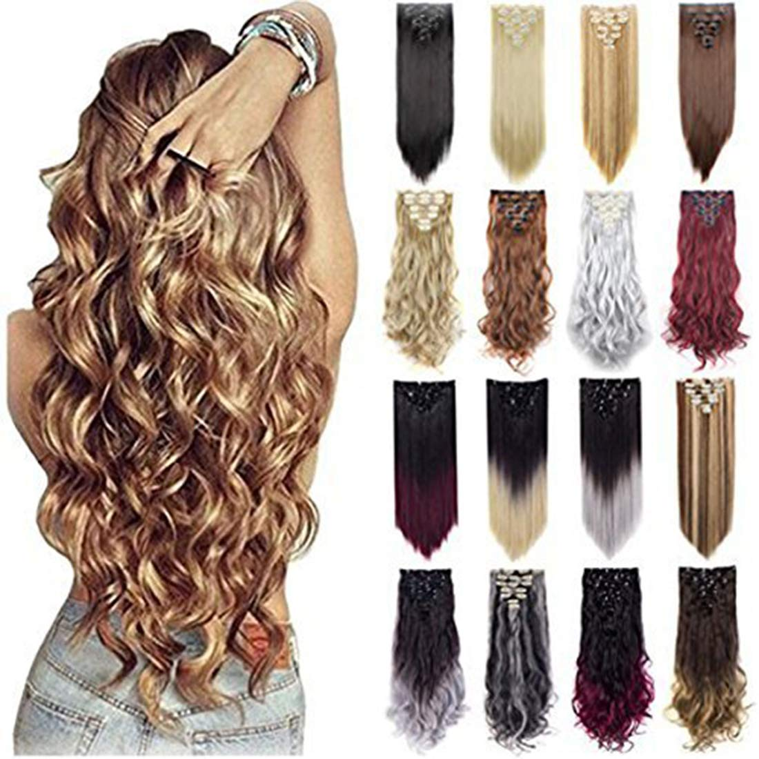 Grade 7A 160g 23-24 Inch Real Thick Double Weft Clip In Hair Extensions by FIRSTLIKE