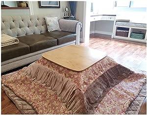 CharmingNight (4pcs/Set) Table Legs Foldabe Japanese Kotatsu Set Table Futon Heater Living Room Furniture Reversible Top Heated Table Folding Creativity (Color : FU 3)