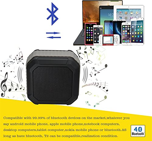 Protable Wireless Speaker with 10 Playing Hours for Outdoor or Shower Waterproof Shock Proof Wireless Minisize LRM-LXIWT2