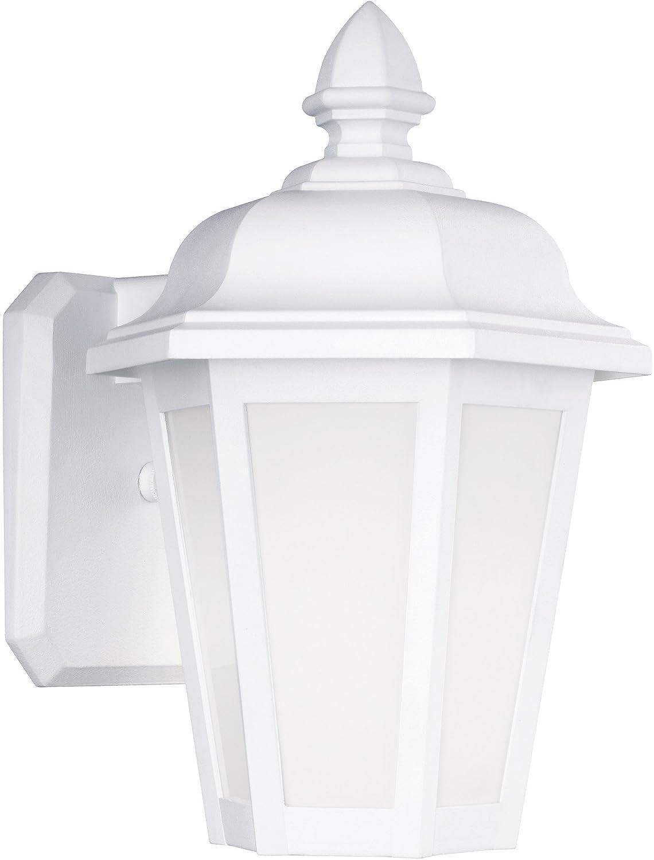 Sea Gull 89822 – 15 Brentwoodアウトドア壁取り付け用燭台、1-light 60ワット、ホワイト B01NBSZP4W