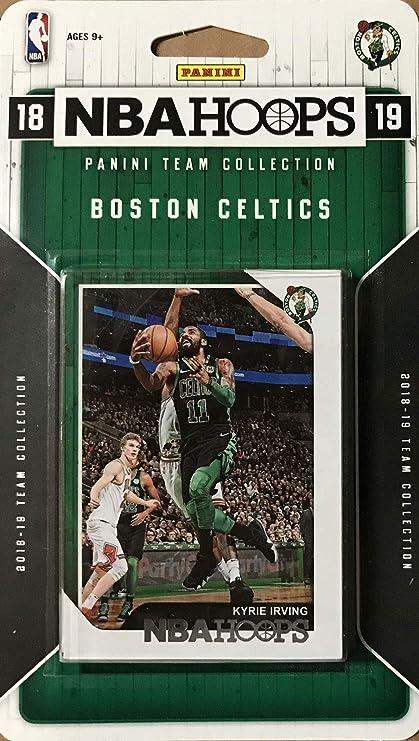 Boston Celtics 2018 2019 Hoops Basketball Factory Sealed 9 Card Team Set with Kyrie Irving Gordon Hayward and Jayson Tatum Plus