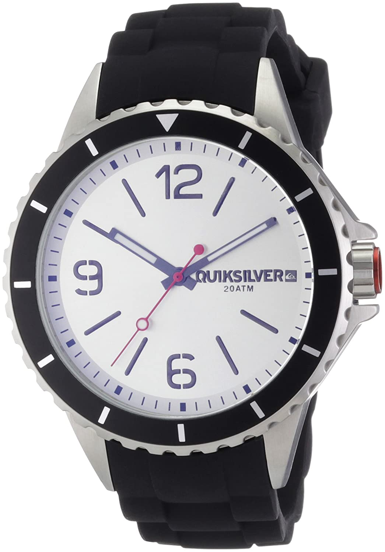 Quiksilver M165BS-ASIL - Reloj analógico manual para hombre con correa de silicona, color negro: Amazon.es: Relojes