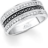 S. Oliver Damen-Ring 925 Silber Zirkonia mehrfarbig 4189