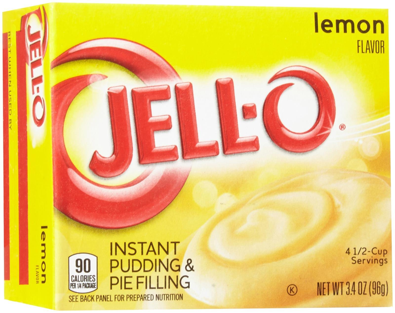 Jell-O Instant Pudding-Lemon-3.4 Oz-4 Pack by Jell-O