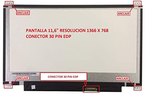 """tecla2xtatil Pantalla Compatible DE Y para PORTATIL 11,6"""" ASUS VivoBook TP201SA-FV"""