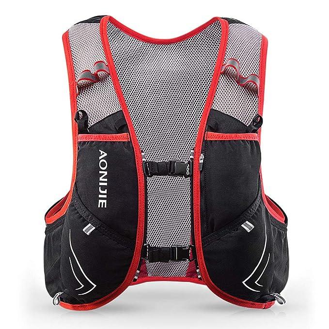 Amazon.com : XUSHSHBA 5L Outdoor Sport Trail Running Backpack Marathon Trail Running Hydration Vest Pack for 1.5L Water Bag Cycling Hiking Bag GR LXL BP ...