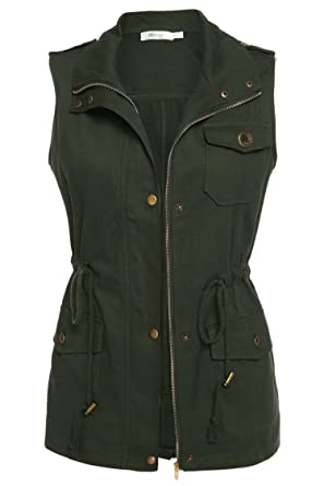 Meaneor Womens Lightweight Sleeveless Military Anorak Vest at Amazon ... 7ad10a5c6