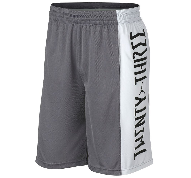 NIKE Men's Jordan Retro 11 Basketball Shorts (Gunsmoke/White/Dust, XX-Large)