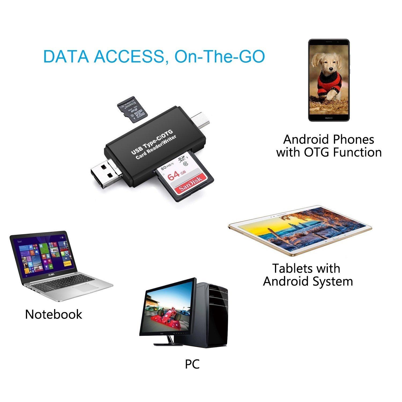Vanja Sd Micro Card Reader Usb Type C Otg Adapter And