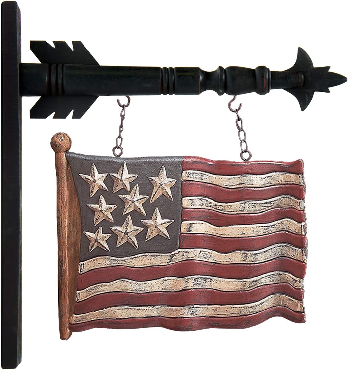 K&K Interiors B5751 Carved Flag Arrow Replacement, 10.00 x 12.50 x 2.00
