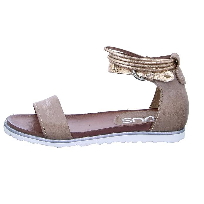 Mjus Damen Sandale 255038 Sandalette Metallic Leder Rosa, Größe 37