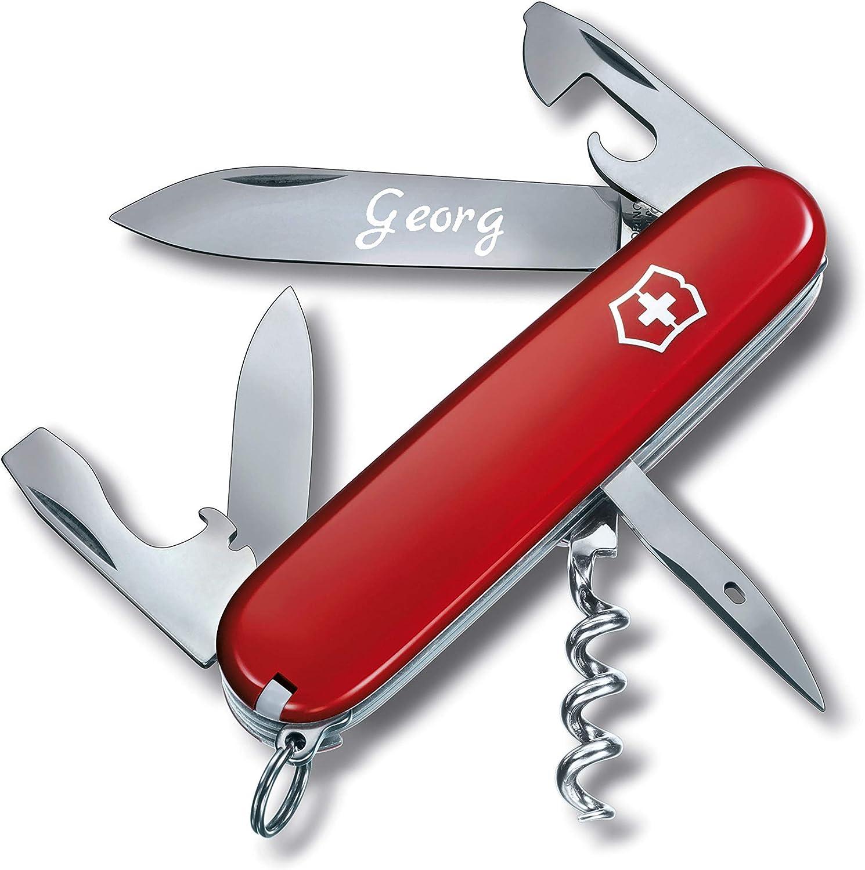 graviert mit Namen oder Initialen 3Dglas Taschenmesser mit Gravur original Victorinox