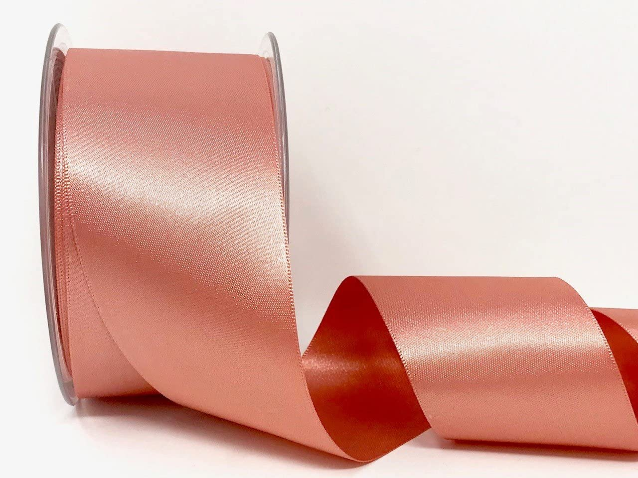 Quality Deep Rose Gold Double Sided Satin Ribbon 3mm-50mm Wide Eleganza