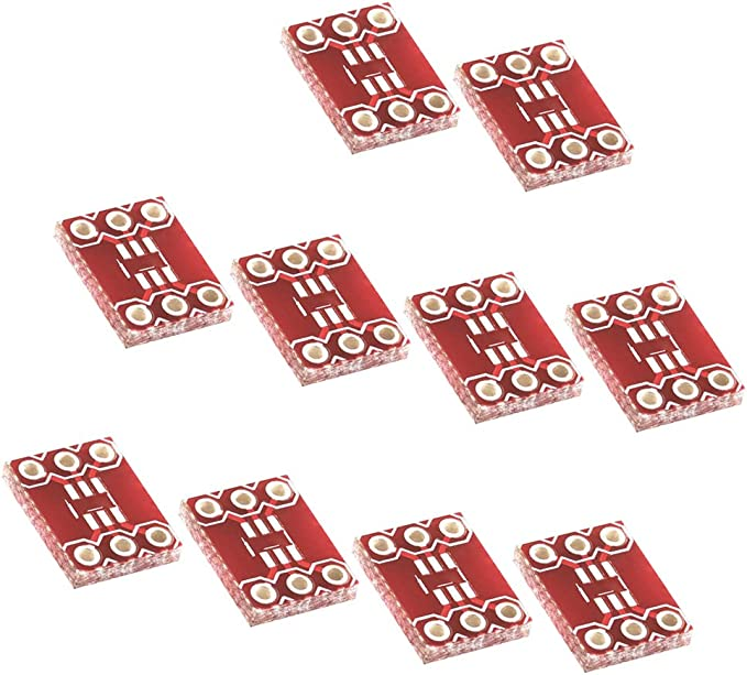 BIlinli 5 St/ücke Sop8 Dip 8 Transfer Conveter Board PCB Adapter 8 Pin