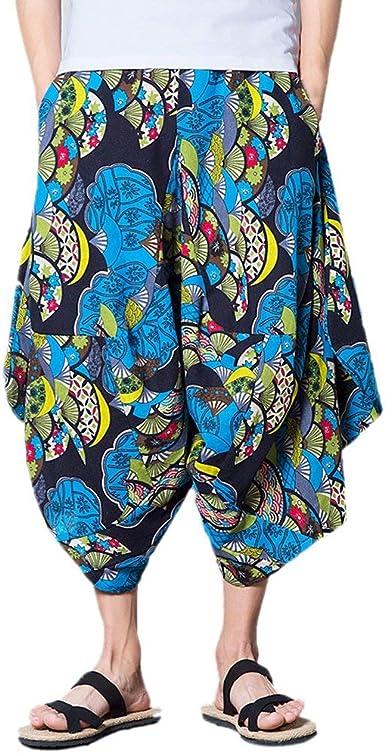 Summer Beach Drop Hombres Entrepierna Casual Adolescentes Fancy Pantalones Thai Bottoms Shorts Pantalones Festivo Joven Regalos Hippie Harem Amazon Es Ropa Y Accesorios