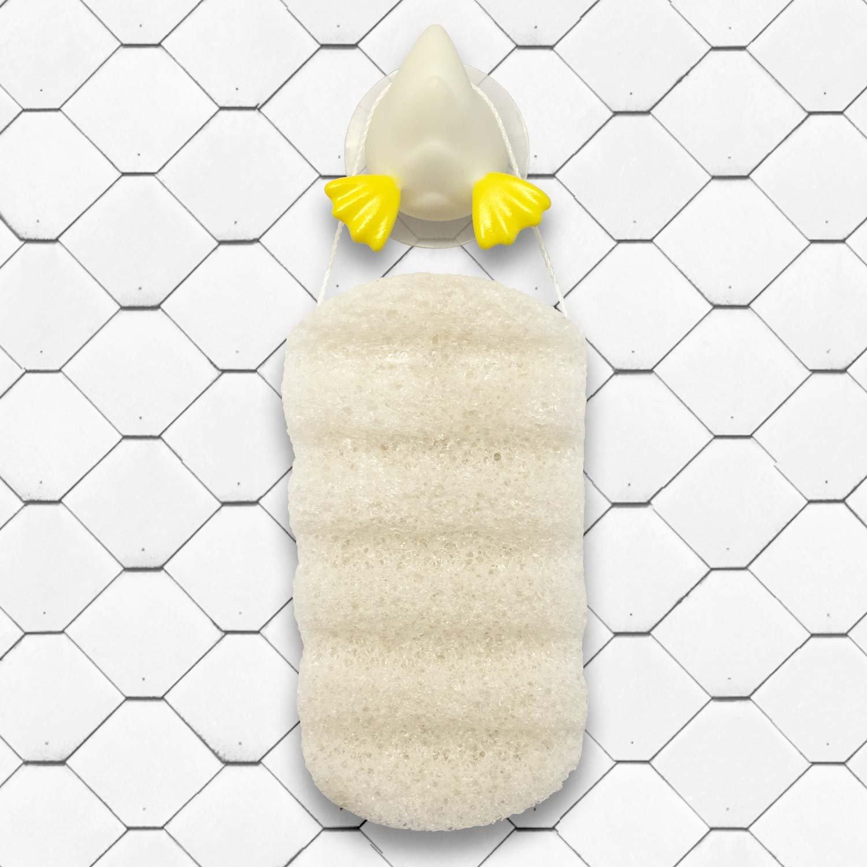 Gentle Care Baby Shower Gift-Towel, Konjac Sponge, Shampoo Cap