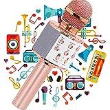 JY Micrófono Karaoke Bluetooth,Micrófono Karaoke Portátil para KTV,Portátil Inalámbrica Micrófono,Altavoz del Karaoke para Ni