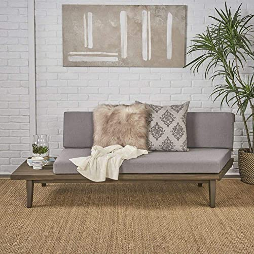 Christopher Knight Home Eulah Indoor Minimalist Acacia Wood Left-Sided Sofa