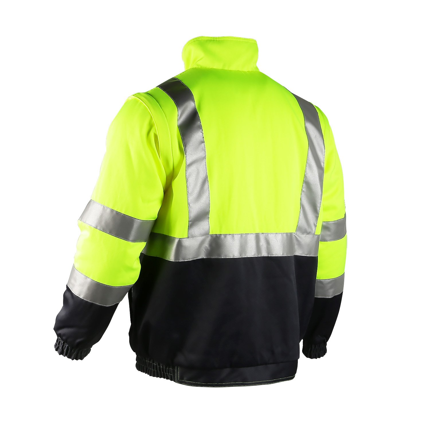 ororo Men's Heated Jacket ANSI/Isea Class 2 High Visibility Safety Bomber Jacket With Battery Pack(XL) by ororo (Image #3)
