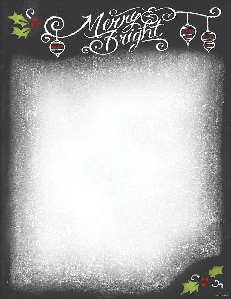 Hortense B. Hewitt Great Papers! Chalkboard Letterhead, 80 count, 11 x 8.5 (2014046)