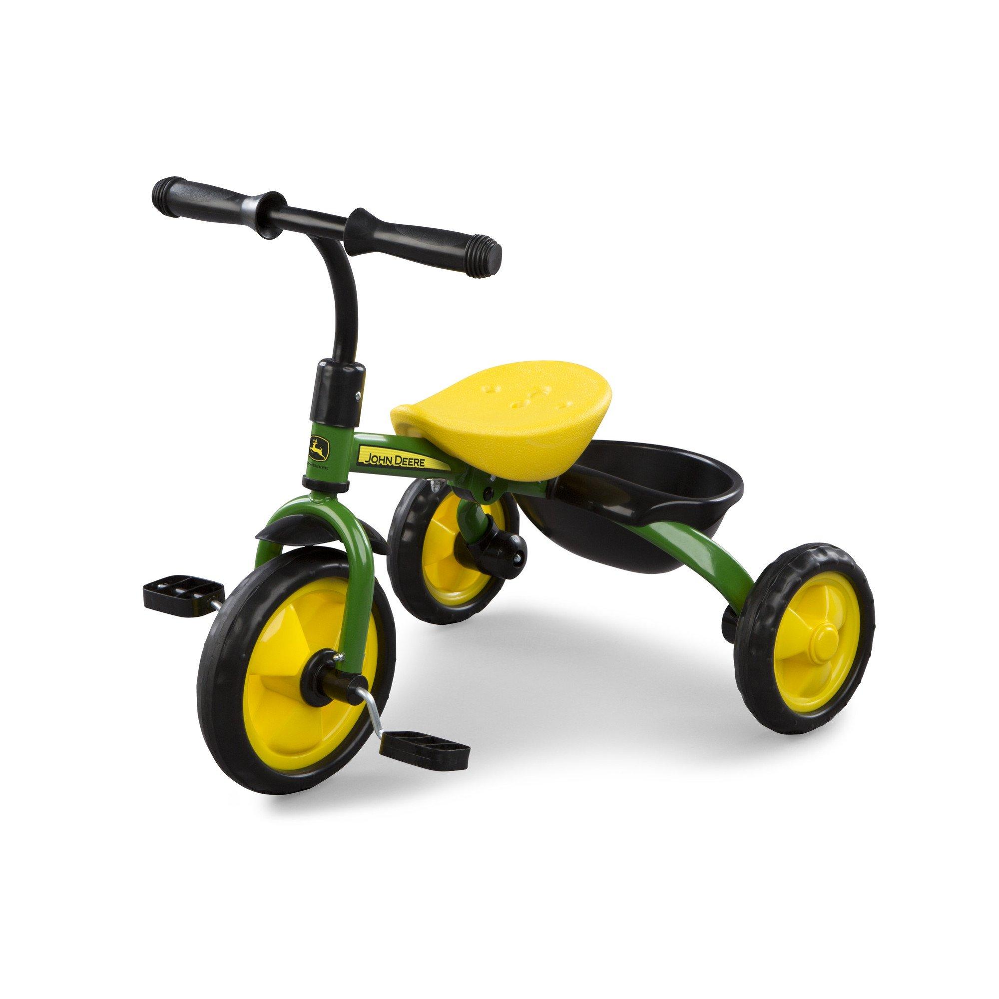 John Deere Steel Tricycle Green Green