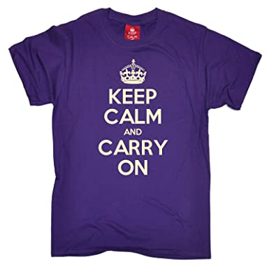 43c96aee Amazon.com: Official Men's Keep Calm and Carry On T-Shirt: Clothing
