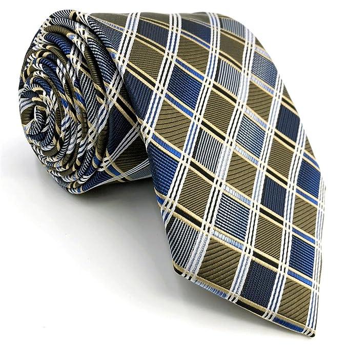shlax&wing a cuadros Azul Corbatas Para Hombre Traje de ...