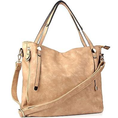 WISHESGEM Schultertaschen Damen Umhängetaschen Handtaschen Tote Damen Henkeltaschen PU Leder Top handle Taschen L:36cm * W:17cm * H:33cm