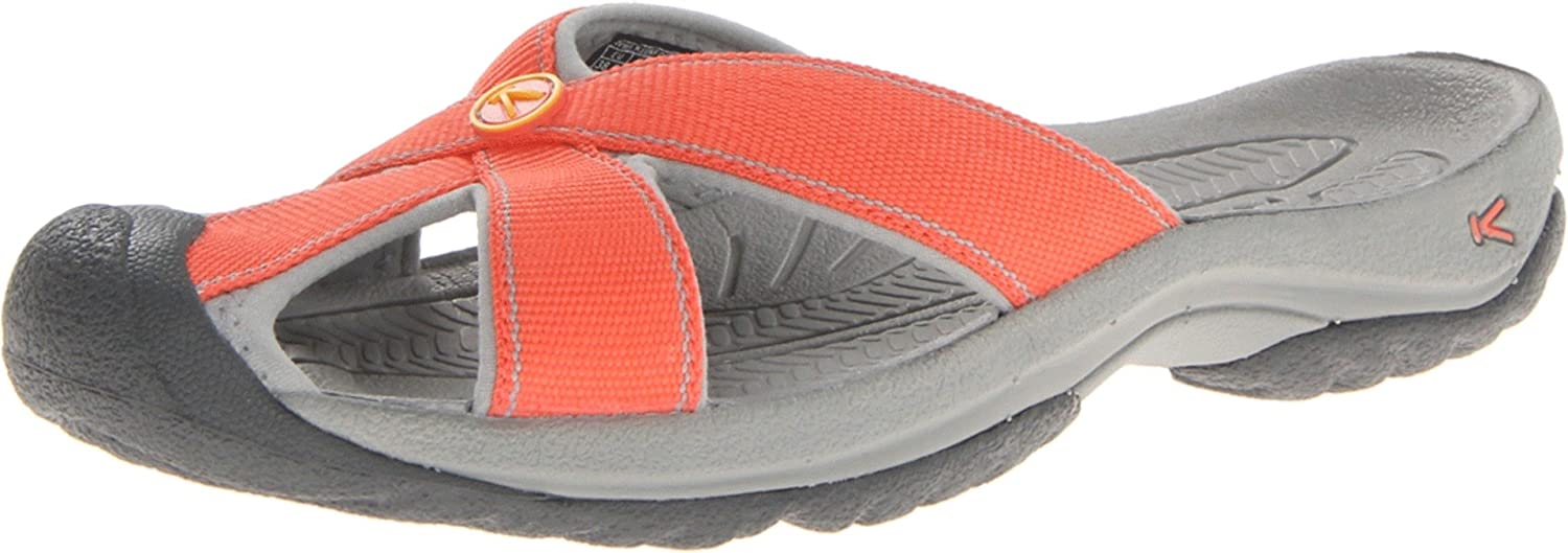 KEEN Women's Bali-w B00E0G6IRO 5.5 M US|Hot Coral/Neutral Gray