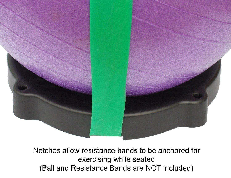 Isokinetics Inc. Exercise Ball Base - One Piece Construction - 19'' x 2''