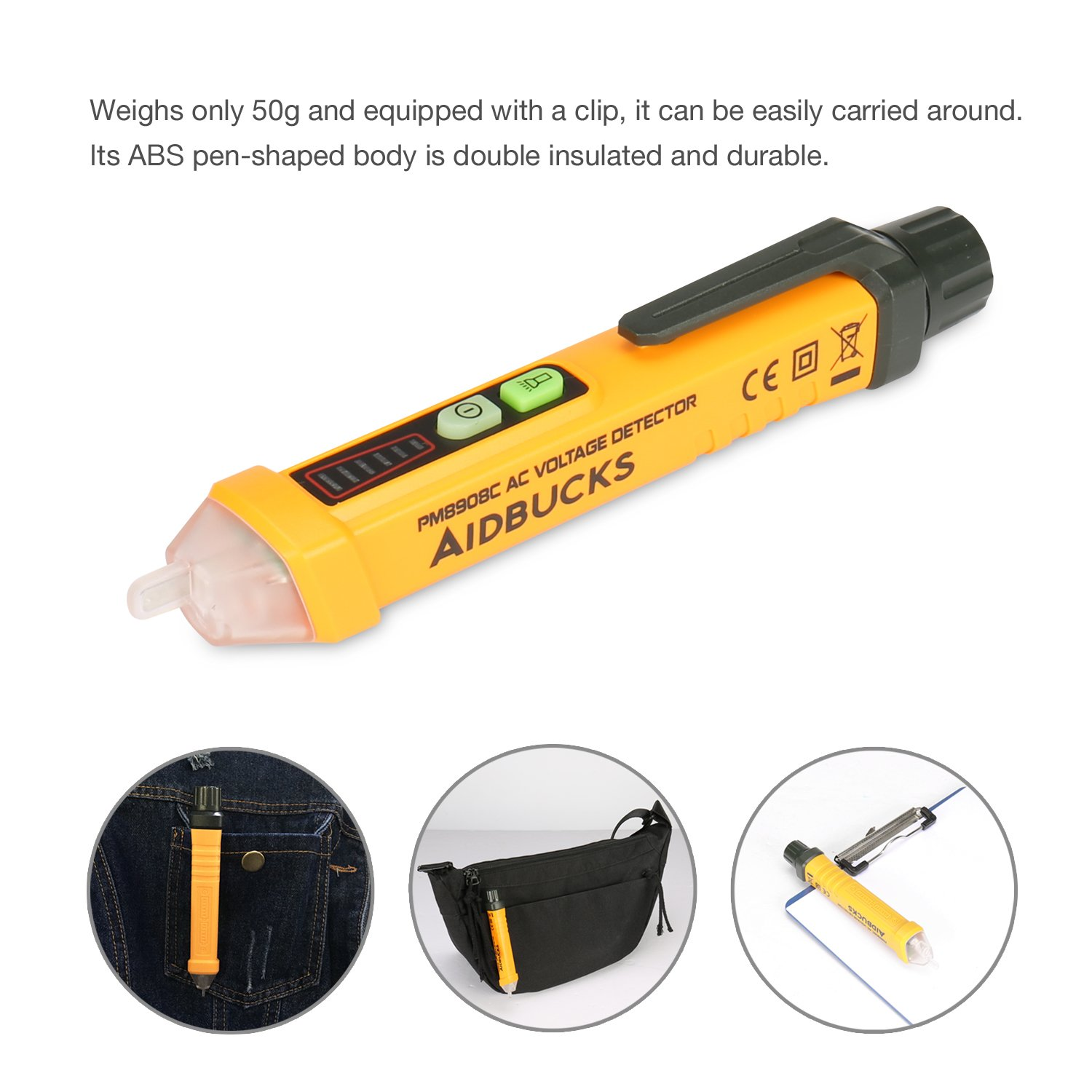 Voltage Tester Aidbucks Pm8908c Non Contact Digital Multimeter Precision Peak Detector With A Long Memory Time Circuit Testers Detector12 1000v Ac Volt Current Meter Led Flashlight