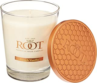 product image for Root Candles Honeycomb Veriglass Scented Beeswax Blend Candle, French vanilla