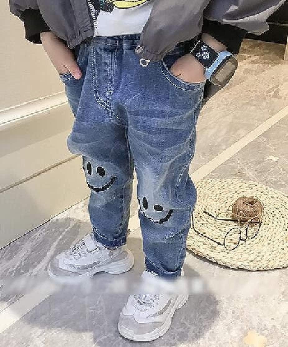Cromoncent Boys Trousers Fashion Denim Jeans Ripped Pattern Pants