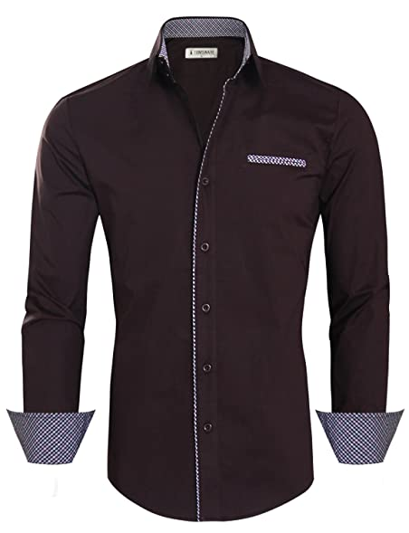 Maroon colored dress shirts