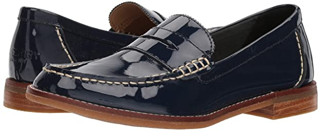 Seaport Penny Patent Loafer, Navy