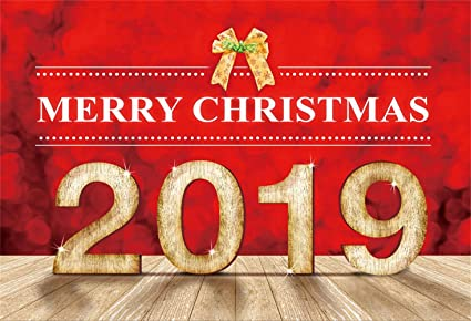 Merry Christmas 2019.Amazon Com Laeacco Merry Christmas 2019 Backdrop 7x5ft