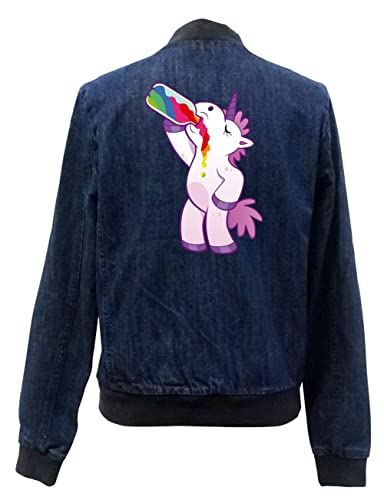 Drinking Unicorn Bomber Chaqueta Girls Jeans Certified Freak
