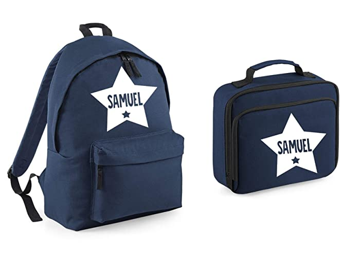 deacb7a350 Personalised Star Name Backpack and Lunch Bag Set School bags Boys  Personalised Girls Bags Back to School Bags  Amazon.co.uk  Handmade