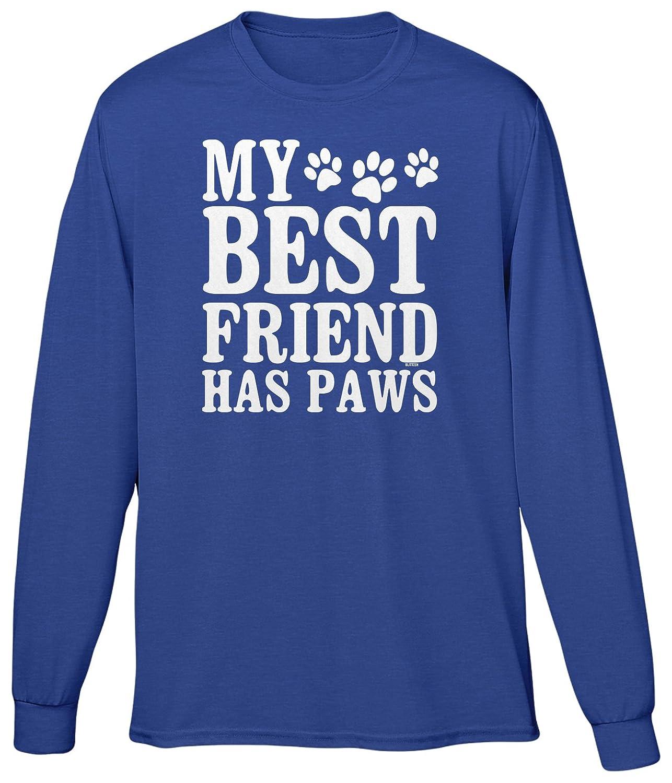 Blittzen Mens Long Sleeve T-shirt My Best Friend Has Paws